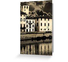 Stormy Pisa Greeting Card
