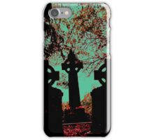 Irish cemetary, Celtic cross - gravestones and headstones, grave marker iPhone Case/Skin
