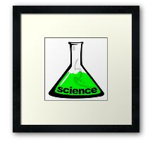 Science Beaker Green Framed Print