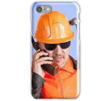 Industrial worker. iPhone Case/Skin