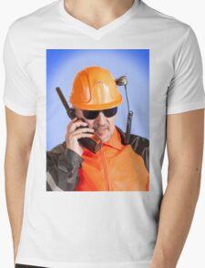 Industrial worker. Mens V-Neck T-Shirt