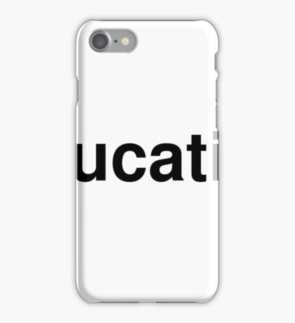 education iPhone Case/Skin