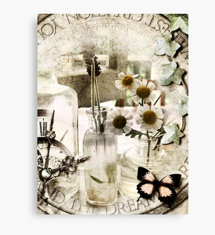 Timeless Beauty in Grunge Canvas Print