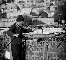 Fisherman, Galata Bridge by Lidia D'Opera
