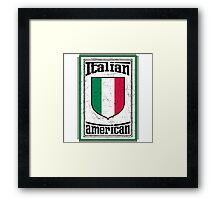 Italian American Framed Print