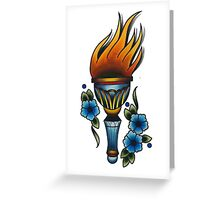 torch Greeting Card