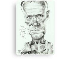 Walking Dead 'Merle' gourmet caricature by Sheik Canvas Print
