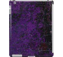 USGS Topo Map Oregon Eugene 283075 1980 100000 Inverted iPad Case/Skin