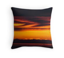 English Bay Sunset Throw Pillow