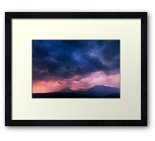 Sunrise Over Glacier National Park.  Framed Print