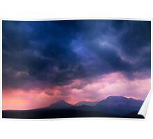 Sunrise Over Glacier National Park.  Poster