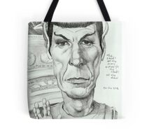 'Spock' gourmet caricature by Sheik Tote Bag
