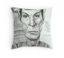 'Spock' gourmet caricature by Sheik Throw Pillow