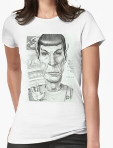 'Spock' gourmet caricature by Sheik Womens Fitted T-Shirt