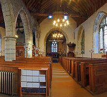 St Mary, Lenham, Nave Panorama by Dave Godden