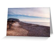 Hengistbury Head and Beach Greeting Card