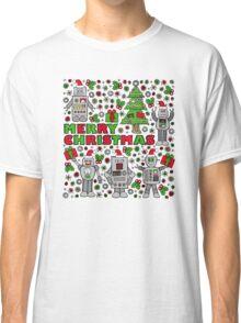 Merry Christmas Robots Classic T-Shirt