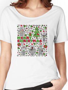 Merry Christmas Robots Women's Relaxed Fit T-Shirt