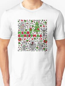 Merry Christmas Robots T-Shirt