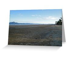 Mission Beach with Crab Balls and Dunk Island  Greeting Card