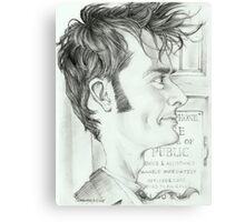 '10th Doctor' gourmet caricature by Sheik Canvas Print