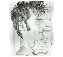 '10th Doctor' gourmet caricature by Sheik Poster