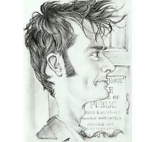 '10th Doctor' gourmet caricature by Sheik Photographic Print