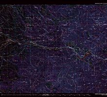 USGS Topo Map Oregon North Santiam River 283110 1983 100000 Inverted by wetdryvac