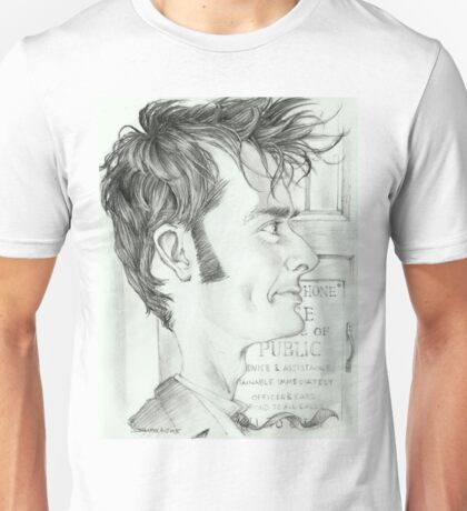 '10th Doctor' gourmet caricature by Sheik Unisex T-Shirt