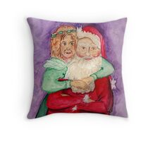Santa and Mrs. Claus Throw Pillow