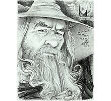 'Gandalf' gourmet caricature by Sheik Photographic Print
