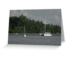 Boats Moored in Mourilyan Harbour Greeting Card
