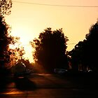sunset #49, shine on main street  by stickelsimages