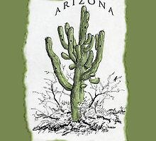 ARIZONA giant Saguaro art  by James Lewis Hamilton