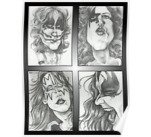 'Kiss' gourmet caricatures by Sheik Poster