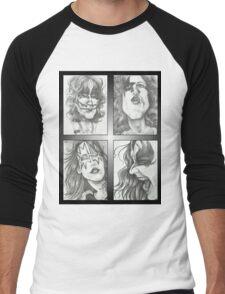'Kiss' gourmet caricatures by Sheik Men's Baseball ¾ T-Shirt