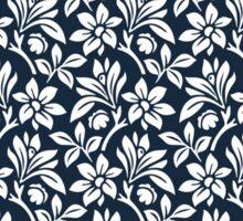Navy Vintage Wallpaper Style Flower Patterns Sticker