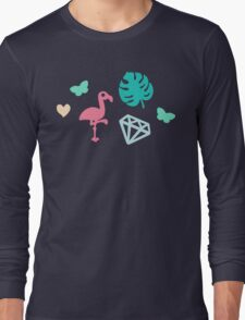 Miami Beach Pastels Pattern Long Sleeve T-Shirt