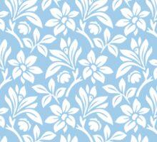 Light Blue Vintage Wallpaper Style Flower Patterns Sticker