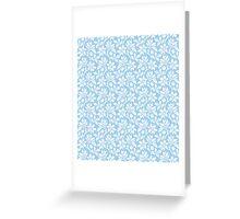 Light Blue Vintage Wallpaper Style Flower Patterns Greeting Card
