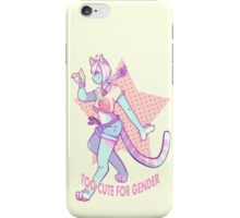 Too Cute For Gender iPhone Case/Skin