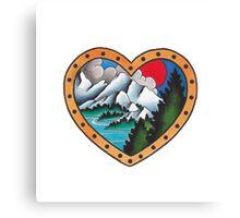 mountain love Canvas Print