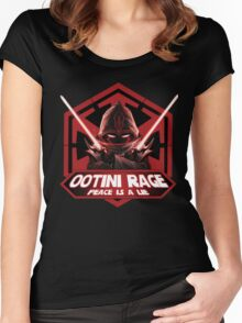 Ootini Rage - Peace is a lie Women's Fitted Scoop T-Shirt