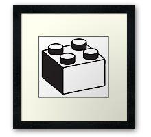 LEGO BLOCK Framed Print