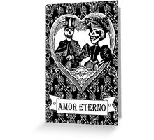 AMOR ETERNO | ETERNAL LOVE | Black & White Greeting Card