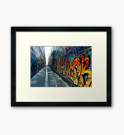 colorful graffiti Framed Print