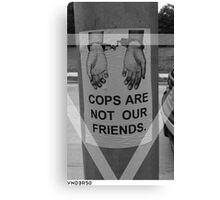 VNDERFIFTY COPS Canvas Print
