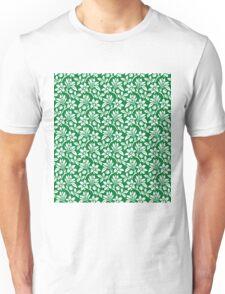 Green Vintage Wallpaper Style Flower Patterns Unisex T-Shirt