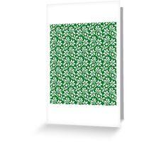 Green Vintage Wallpaper Style Flower Patterns Greeting Card
