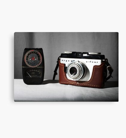 My mother's old camera Canvas Print